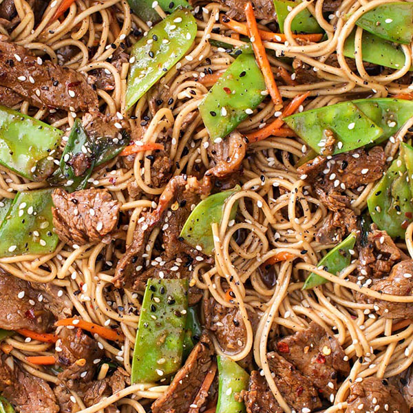 Beef Stir Fry With Noodles
